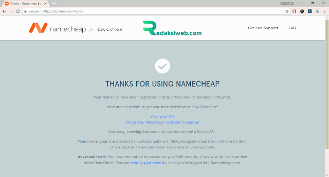 Cara Mendapatkan Domain TLD .Me Gratis dari Namecheap dengan Email Edu