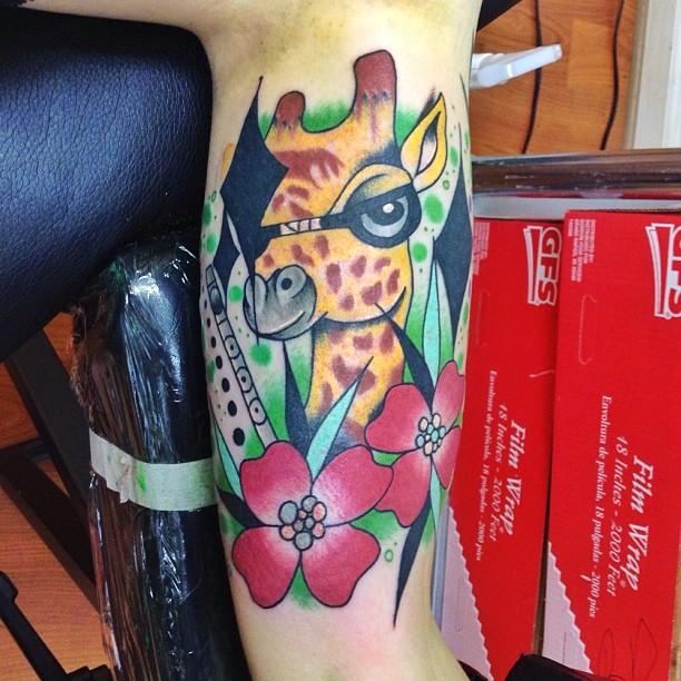 tatuagens incríveis de girafas