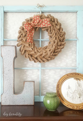 How to make a burlap petal wreath | diy beautify