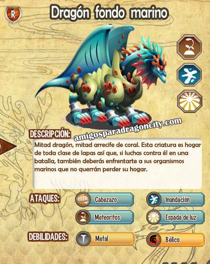 imagen de las caracteristicas del dragon fondo marino