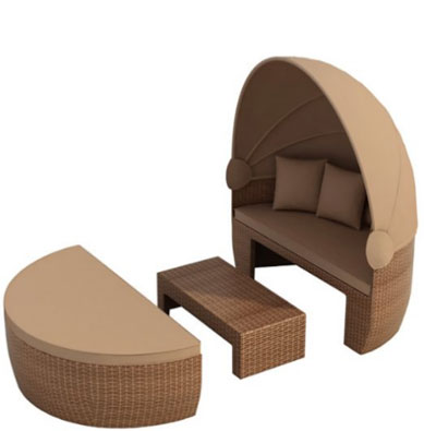 Bozen garden day bed brown, Round Outdoor Daybeds UK, Outdoor Daybeds UK, Daybeds UK, Outdoor Daybeds at Amazon.co.uk, Amazon.co.uk, Best Outdoor Daybeds, Outdoor Furniture, Quality Outdoor Daybeds,