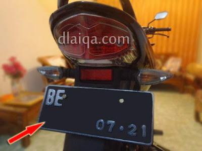 Plat Nomor Yamaha V-ixion