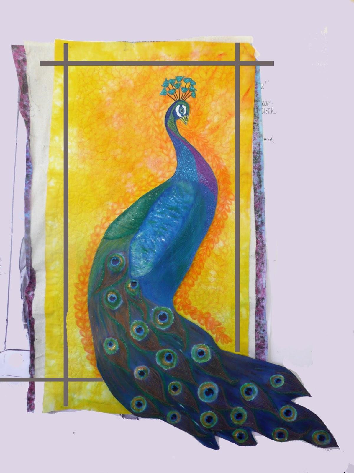 Linda's Art Quilts: Birth of a Royal Guardian - Peacock ...