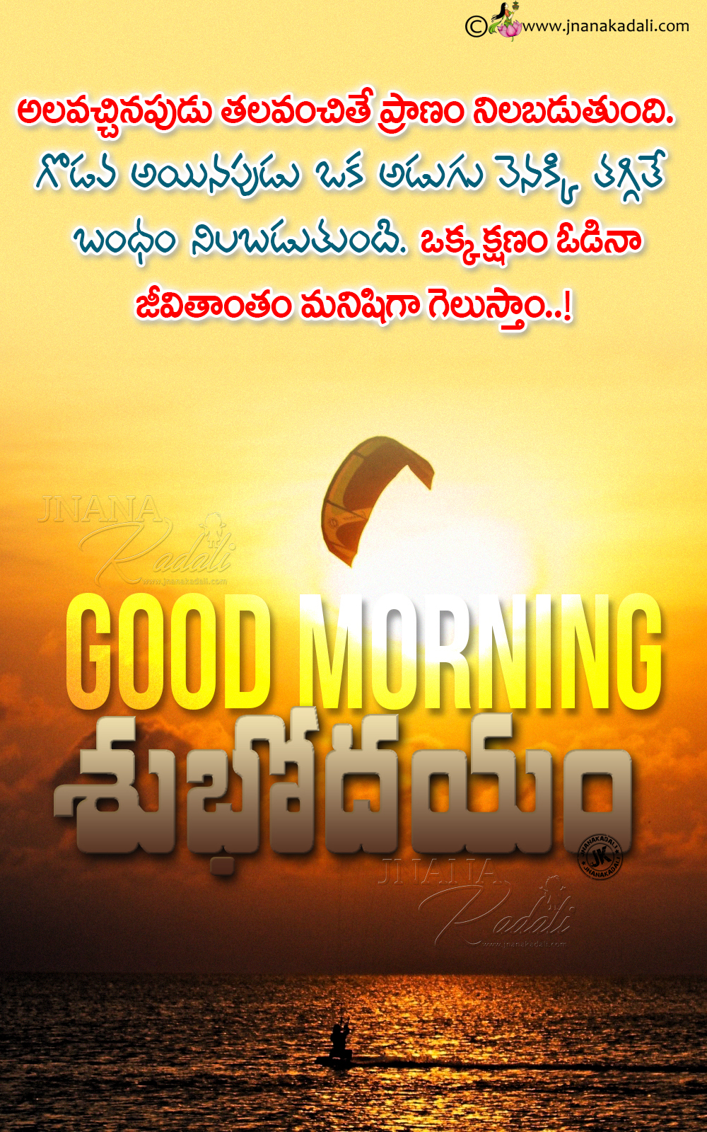 Telugu Good Morning Messages Quotes, Best Good Morning Sayings In Telugu,  Subhodayam Messages Online