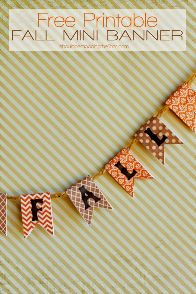 Free Printable fall mini banner
