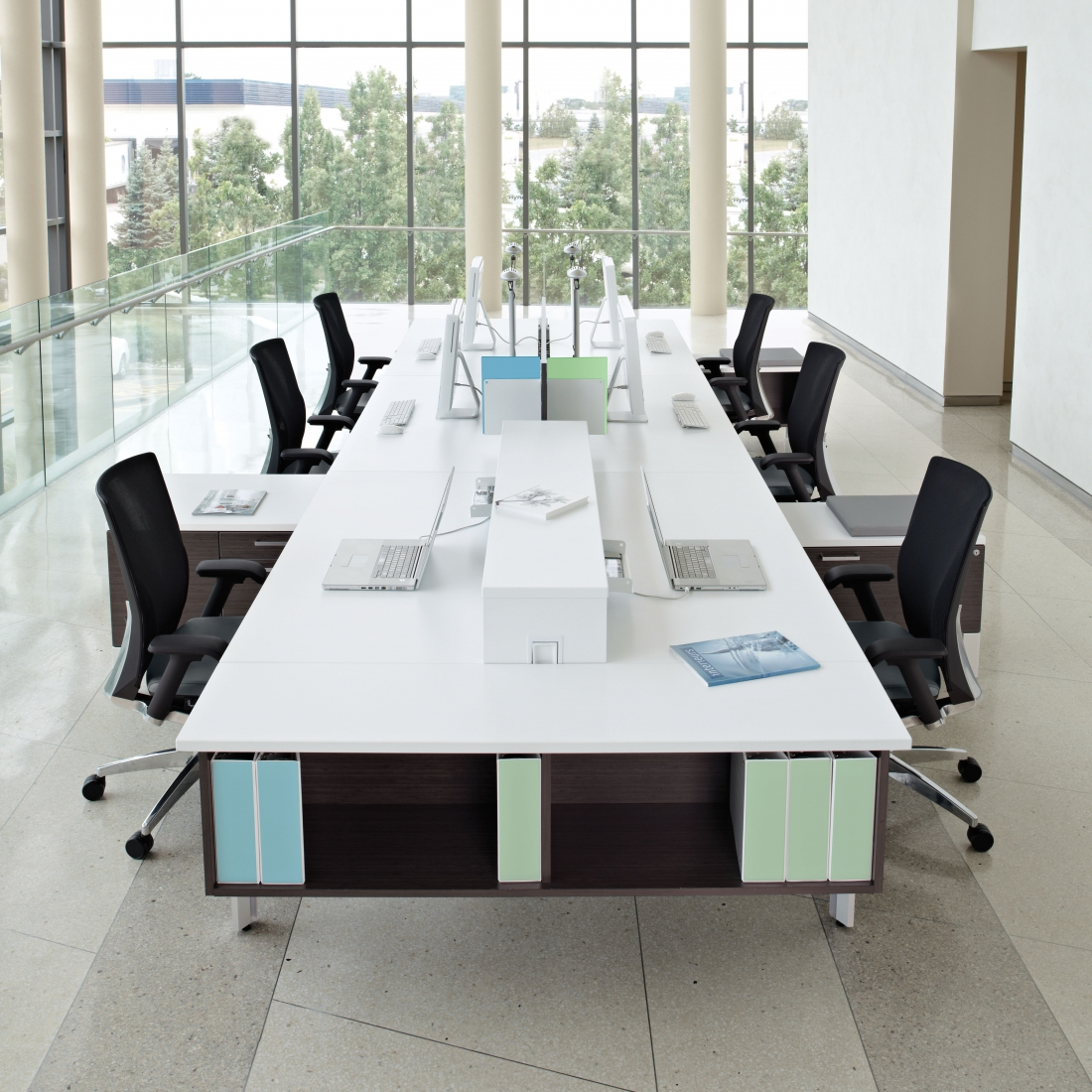 The office furniture blog at desks in Open office furniture