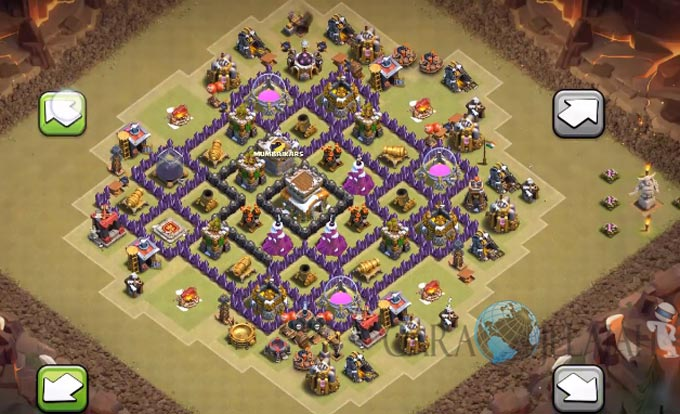 Base War TH 8 di Clash Of Clans Terbaru 2017 Tipe 22