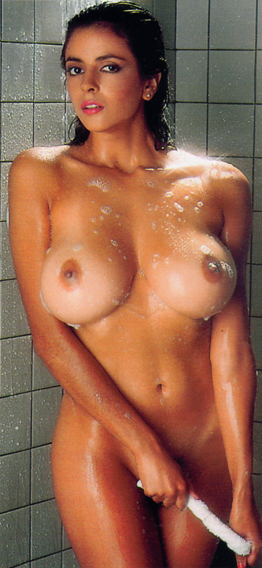 with girl showering nude