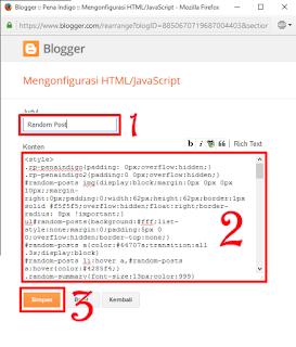 memasang random posts di blog