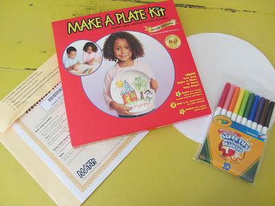 Make a Plate Kit for family dinner plate keepsake-The Unlikely Homeschool