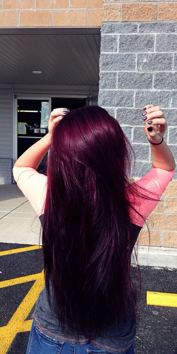 Burgundy Hair Purple