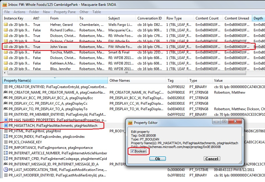 Exchange Gloves: Attachment does not show in Outlook 2010