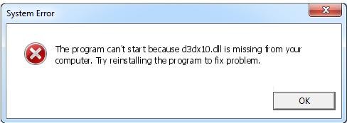 Télécharger D3dx10.dll Fichier Gratuit Installer