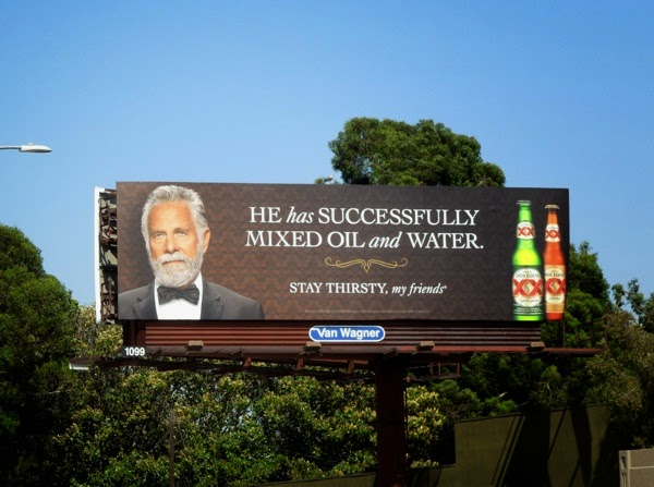 mixed oil water Dos Equis beer billboard