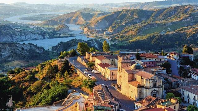 Vista de parte da região da Calábria
