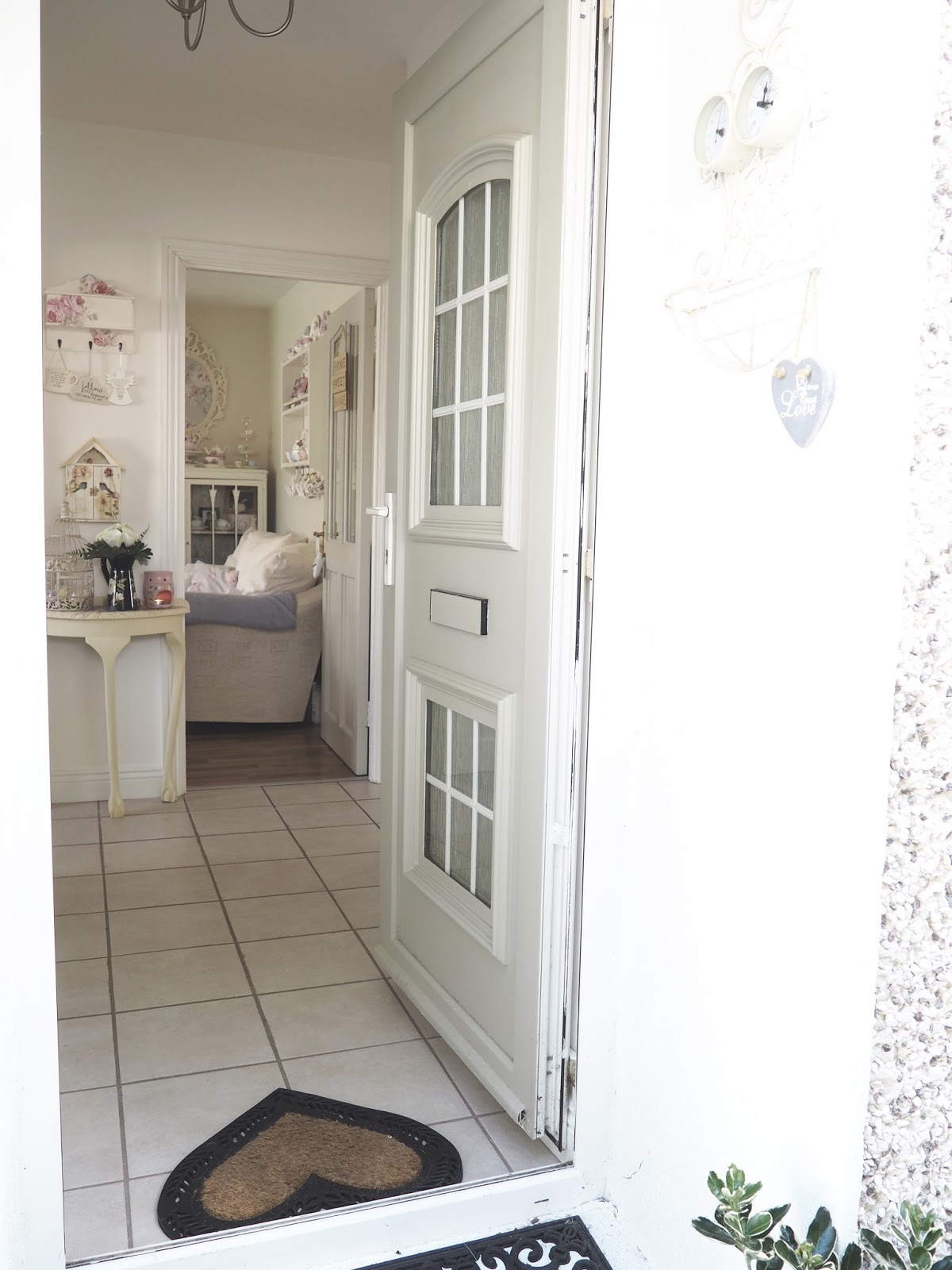 Hand Painted Cottage Chic Upvc Door The Dainty Dress Diaries