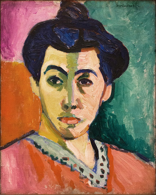 portrait of Madame Matisse- 1906 by Henri Matisse