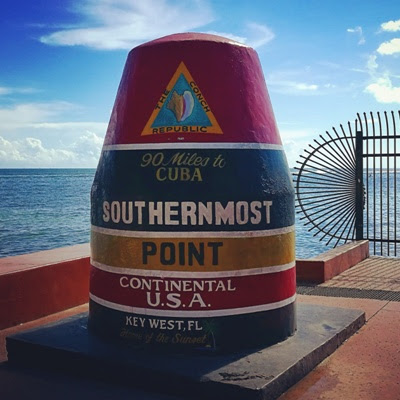 Southernmost point buoy, Key West, Florida