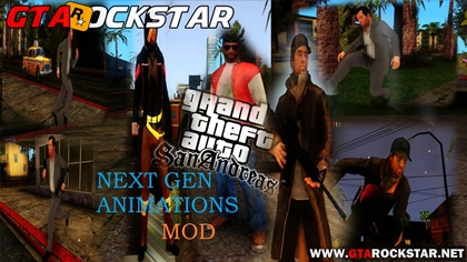 GTA SA - NGA (Next Generation Animations) Mod