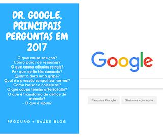 Dr. Google, principais perguntas em 2017