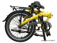 Folded 20 Inch FoldX Kyoto 3 Speed Shimano Internal Gear Folding Bike