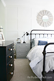 Wall grid on bedroom accent wall