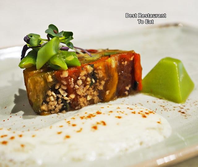 Terrine of Roasted Pepper - Samplings On The Fourteen Restaurant Berjaya Times Square Hotel Kuala Lumpur