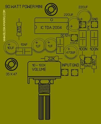 Cara Membuat Power AMPLIFIRE TDA 2004 PCB layout