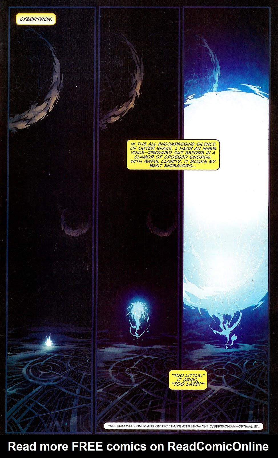 Read online Transformers: Movie Prequel comic -  Issue #1 - 4