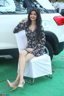 Kritika Telugu cinema Model in Short Flower Print Dress 010.JPG