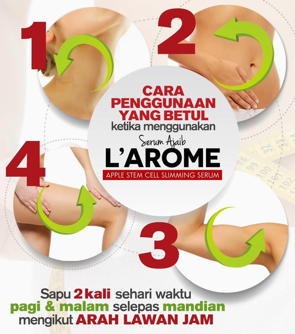 cara pakai larome fogyókúrás szérum