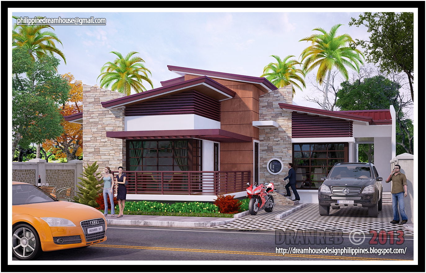 Philippine Dream House Design Three Bedrooms Residential