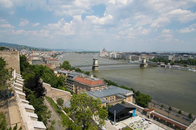 Vista dalla collina del castello a Budapest