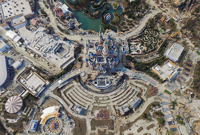 Aerial Pictures Of The Shanghai Disneyland Theme Park