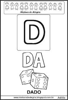 Cartaz das famílias silábicas do D