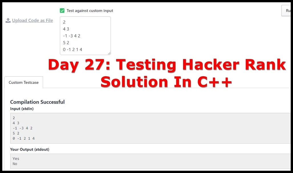 Day 27 Hacker Rank Solutions