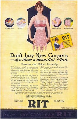 Rit - Don't buy New Corsets -- dye them a beautiful Pink