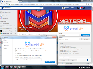 Material Vpn for PC Connected Screenshot
