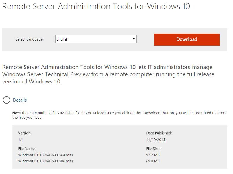 FrontSlash: Remote Server Administration Tools (RSAT) for