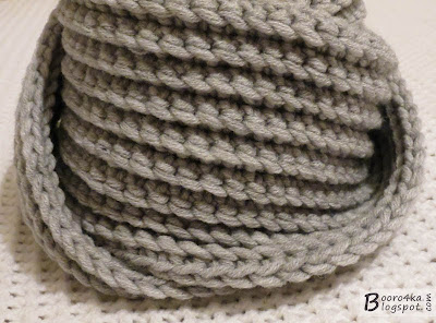 Как связать крючком мужские шарфы