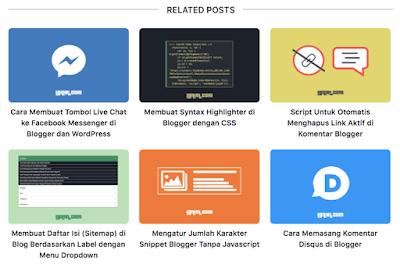 Cara Pasang Related Post dengan Gambar di Bawah Postingan Blogger