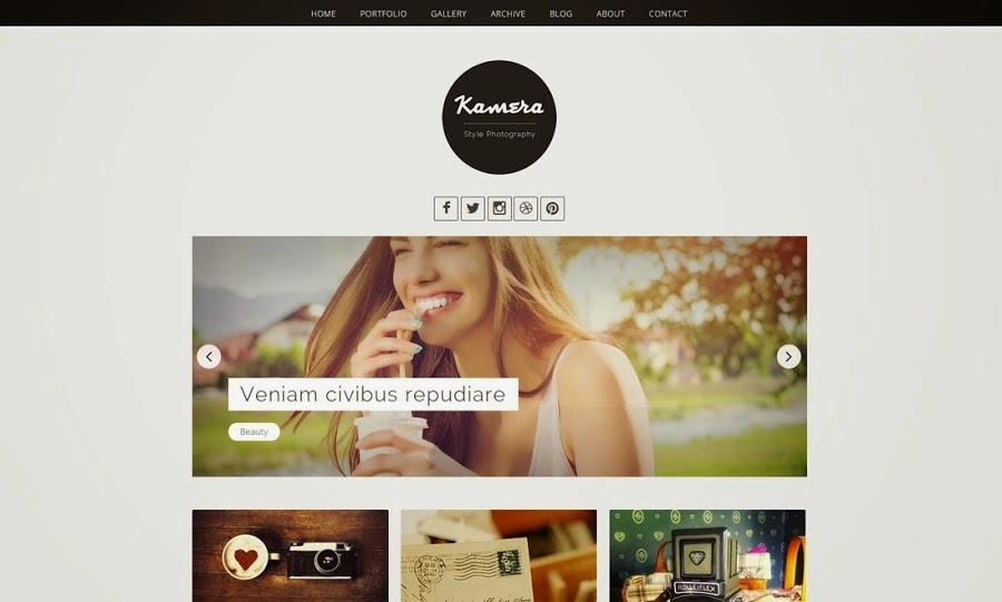 Kamera Blogger Template | Blogger Templates Gallery