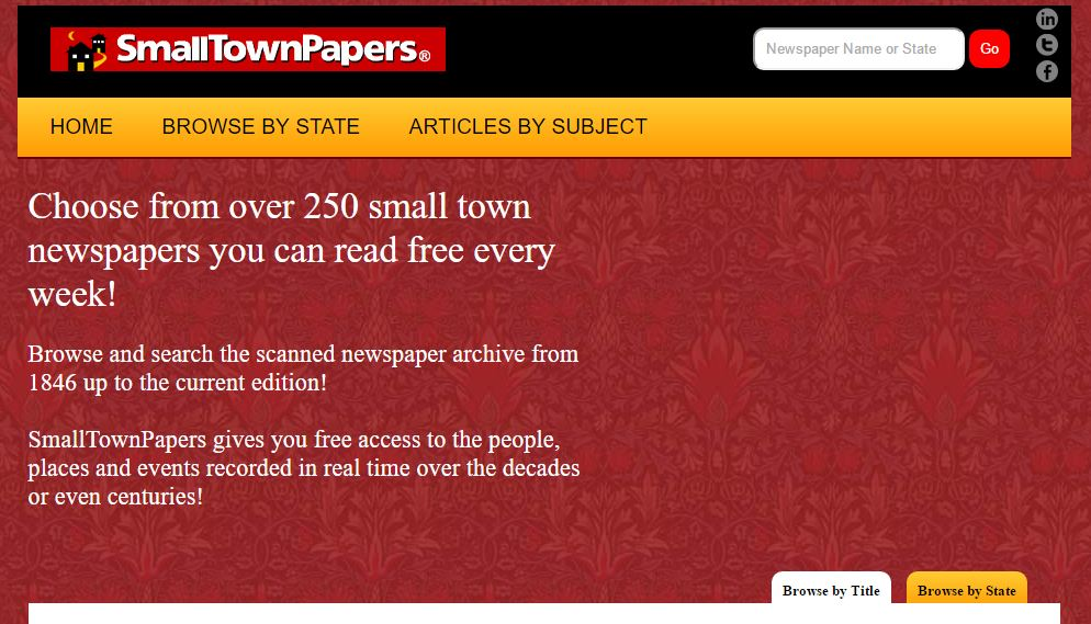 UpFront with NGS: Small Town Newspapers -- a hidden gem!