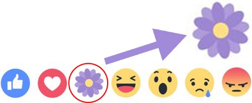flower on facebook emoticon