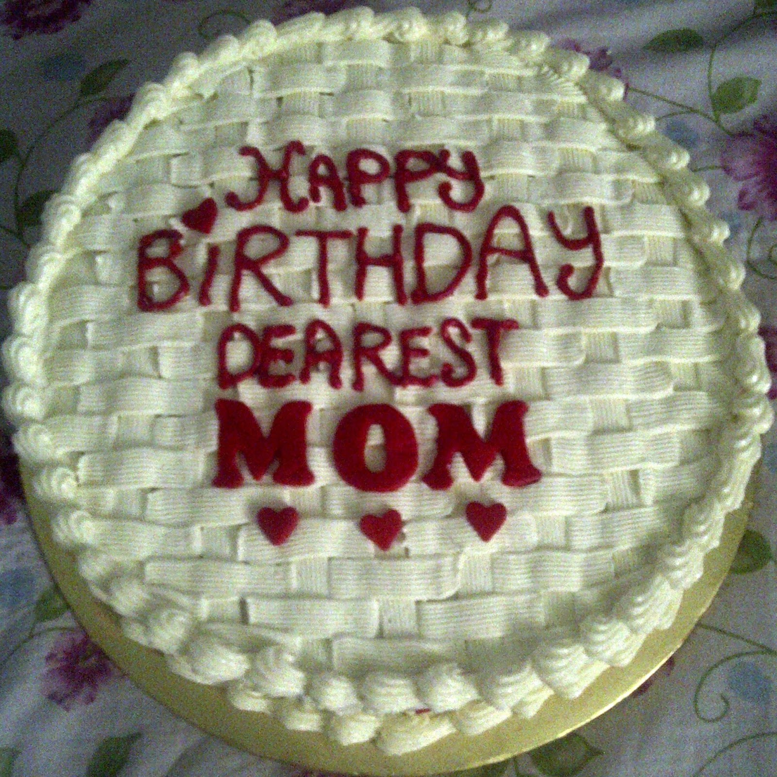 Bakerlicious Cupcakery Happy Birthday Dearest Mom Red