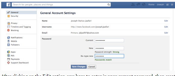 How Can I Change My Facebook Login Password