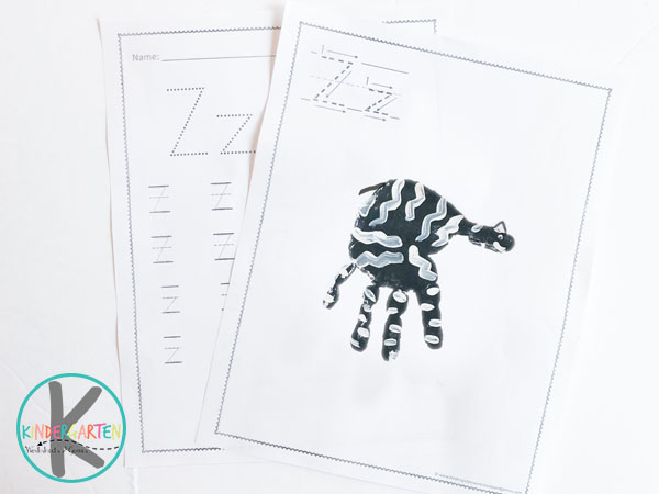 free printable letter z worksheets and z is for zebra hand art project for toddler, preschool, kindergarten