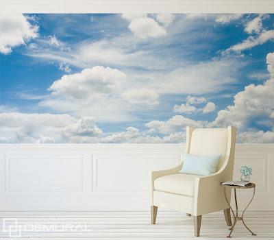 moln tapet himmel fototapet