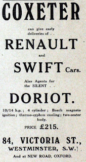Coxeter advert from November 1909