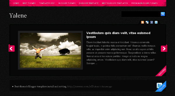 Yalene Wordpress and Blogger Theme Template
